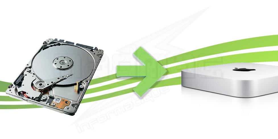 service changement de disque dur pour mac mini 2011 2013 disque dur non fourni. Black Bedroom Furniture Sets. Home Design Ideas