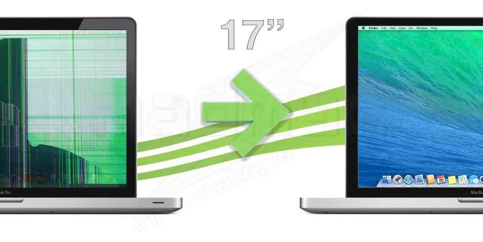 Macbook pro unibody 17 r paration ecran dalle matte for Ecran dalle mate