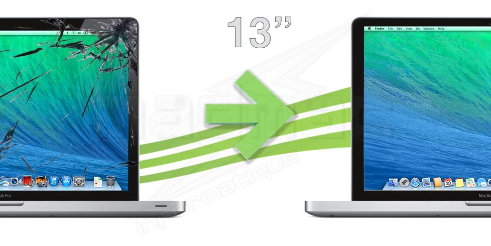 r paration vitre macbook pro unibody 13. Black Bedroom Furniture Sets. Home Design Ideas