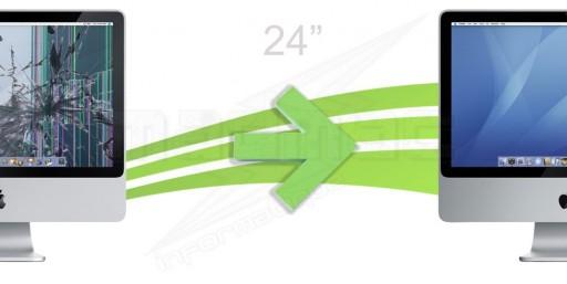 """Réparation d'écran LCD + Vitre pour Imac 24"""""""