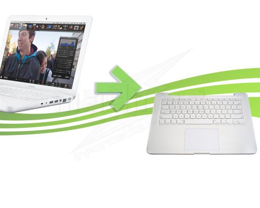 reparation clavier macbook blanc unibody