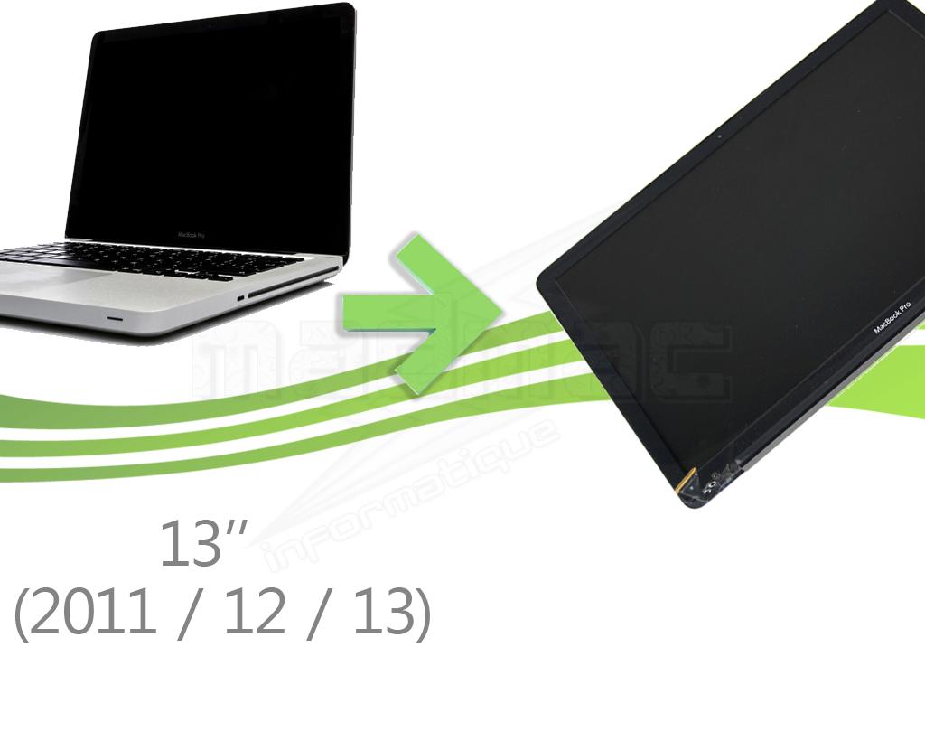 forfait remplacement d 39 cran complet pour macbook pro unibody 13 2011 2012 2013. Black Bedroom Furniture Sets. Home Design Ideas