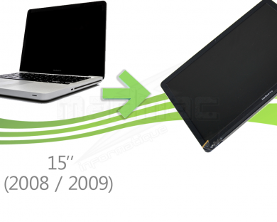 réparation écran macbook pro unibody 15