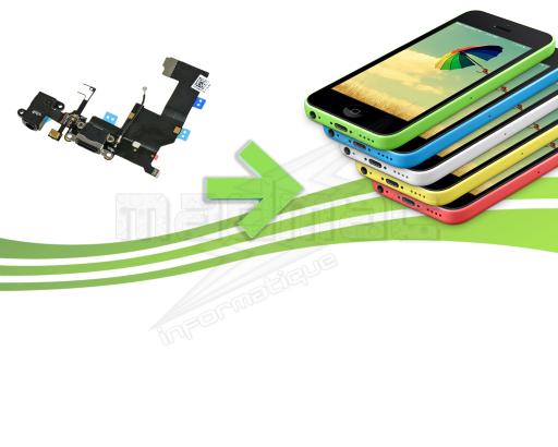 Réparation connecteur de charge , jack , micro pour Iphone 5c