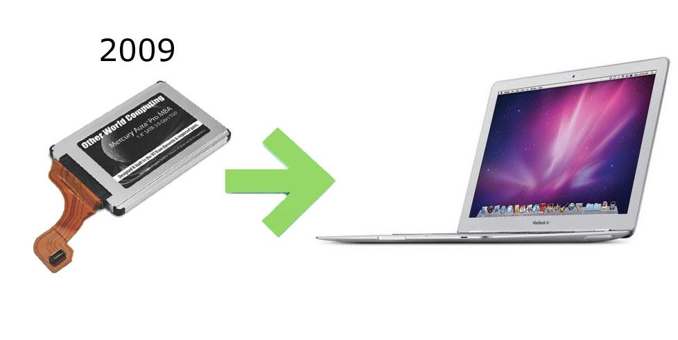 ssd macbook air 2009