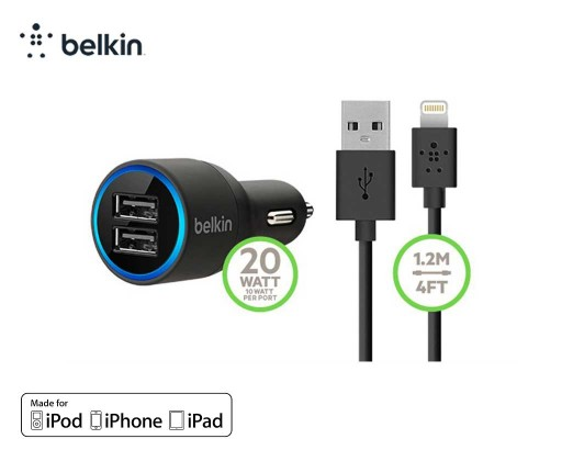 Belkin-F8J071-Dual-USB-chargeur-allume-cigare-2