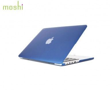 coque protection macbook Pro Retina 13 iGlaze Moshi bleu indigo