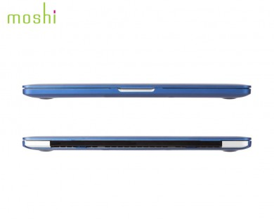 coque protection macbook Pro Retina 13 iGlaze Moshi bleu indigo