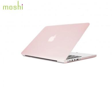 coque protection macbook Pro Retina 13 iGlaze Moshi rose