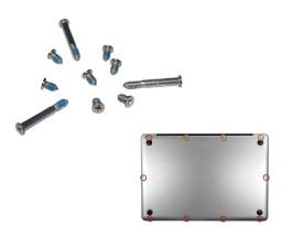 Kit de 10 vis pour coque inférieur Macbook Pro Unibody