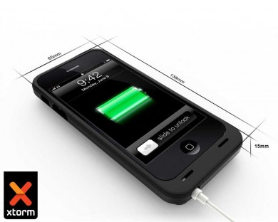 coque iphone 5 5s avec batterie xstorm powerbank 2300