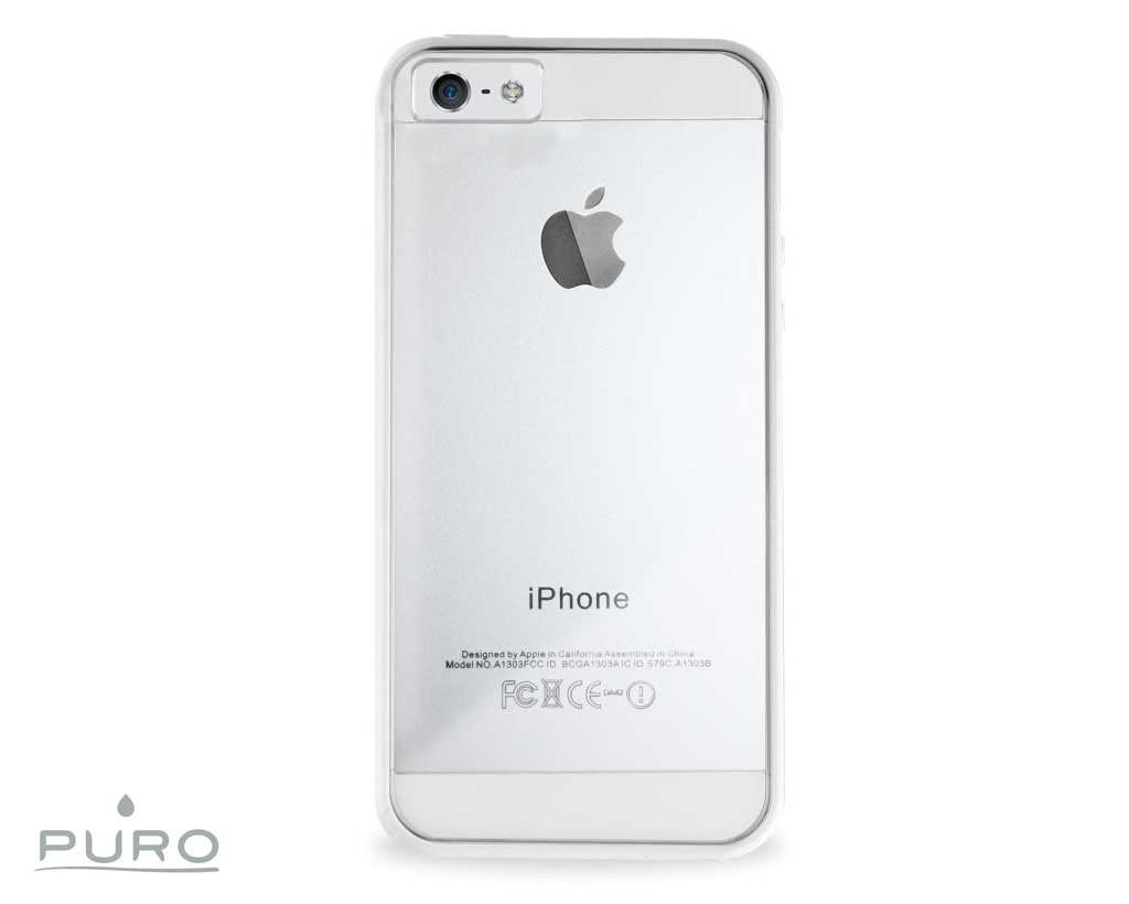 puro case clear iphone 5 5s blanc 3