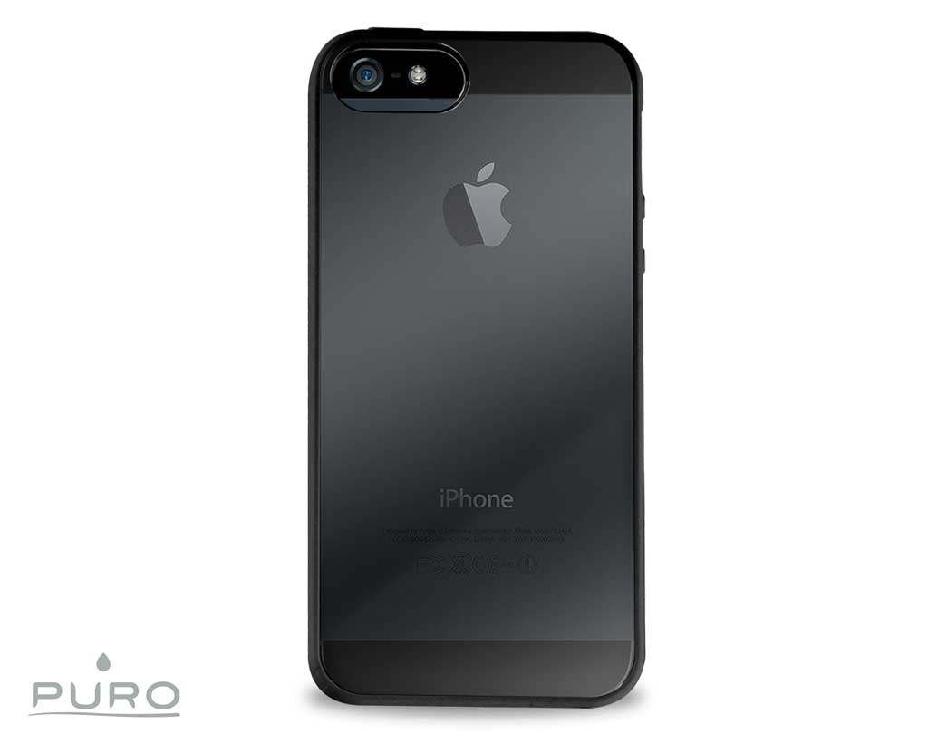 puro case clear iphone 5 5s noir 3