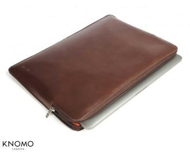 knomo-macbook-pro-uni-sleeve-marron-1