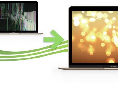 reparation ecran macbook retina 12 gold or