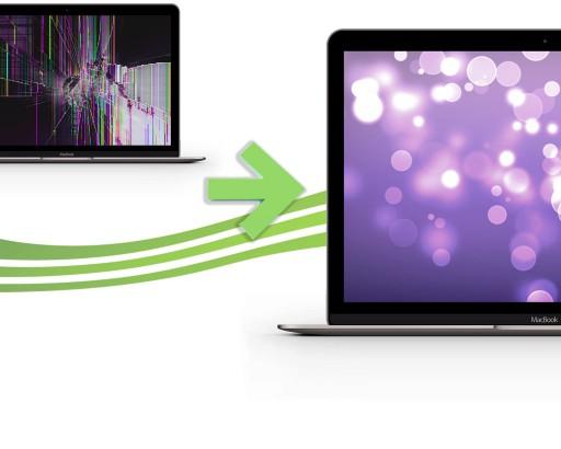 reparation ecran macbook retina 12 gris
