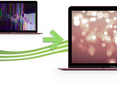 reparation ecran macbook retina 12 rose